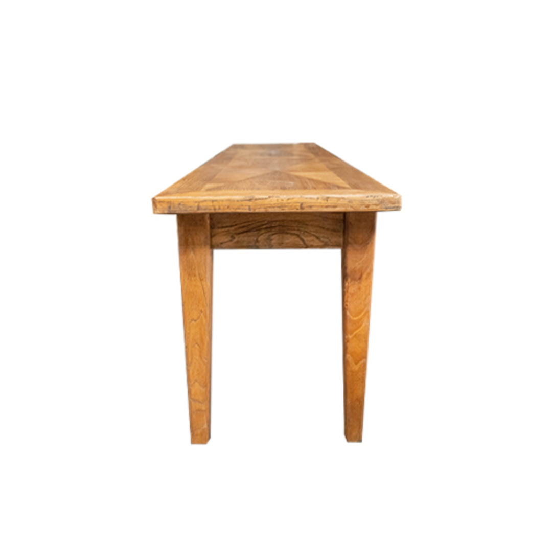 Recycled Elm Parquetry Bench image 1
