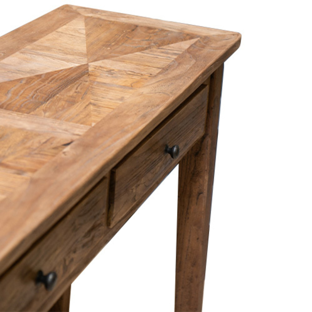 Recycled Elm 2 Drawer Hall Table image 2