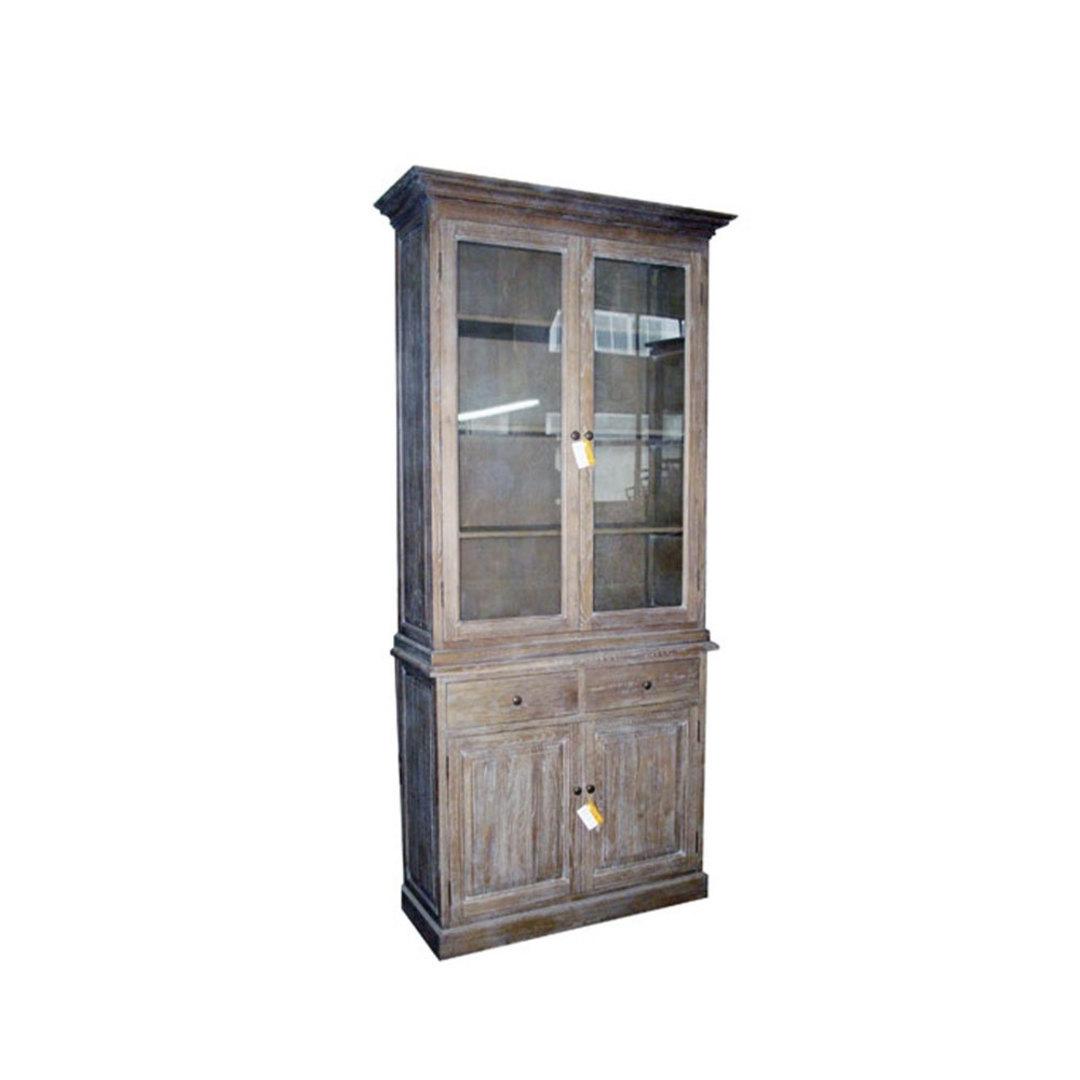 Antique Washed Oak Cabinet image 0
