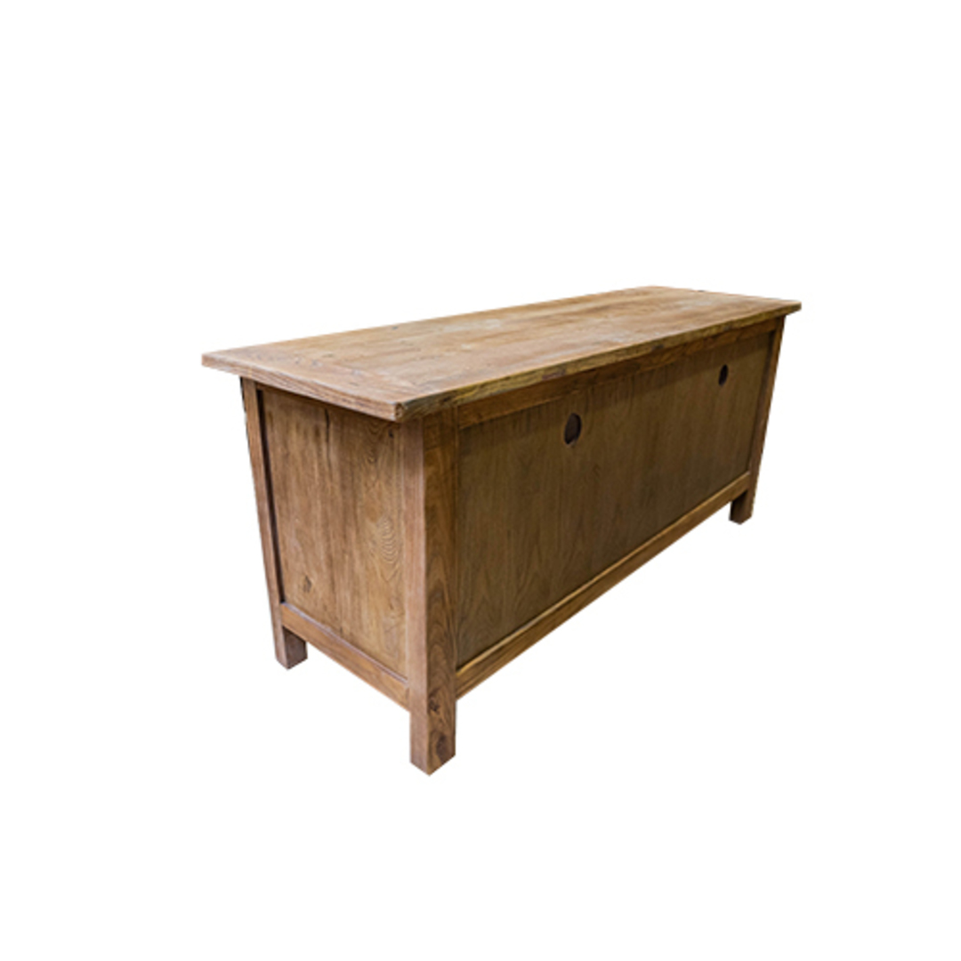 Reclaimed Elm TV Unit With 2 Drawer image 6
