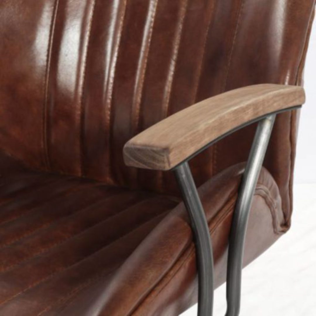 Gloucester Vintage Leather Office Chair Height Adjustable image 8
