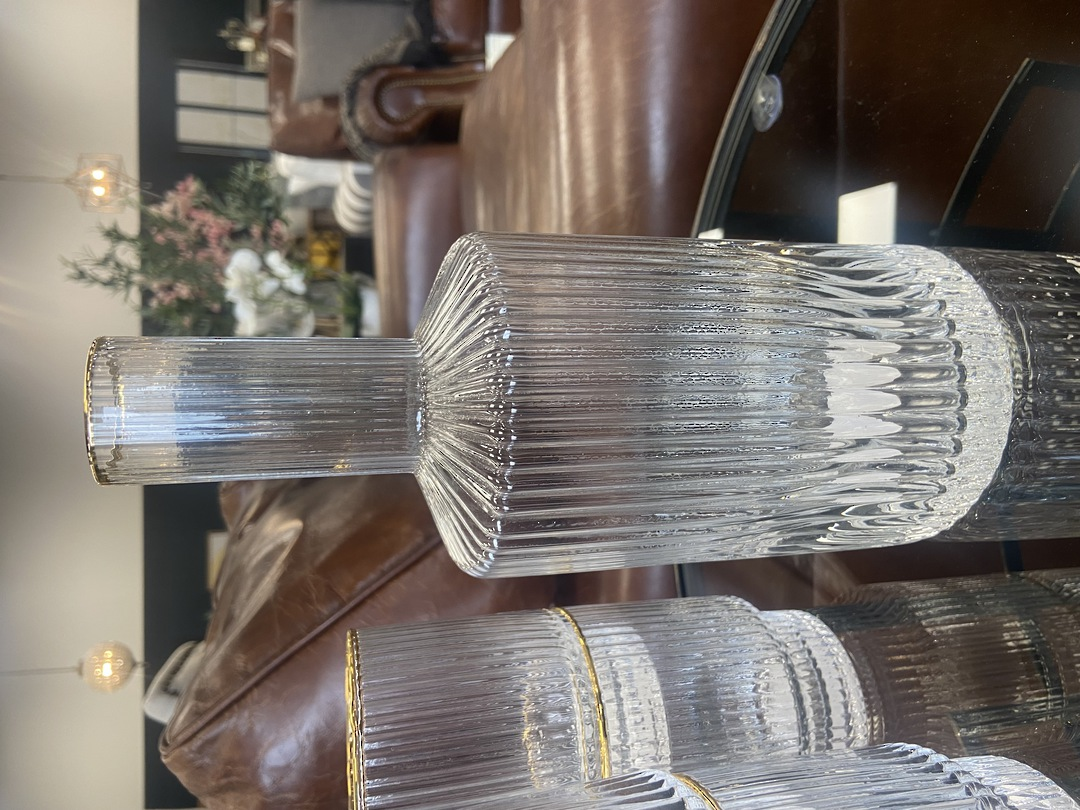 Luxe Striped Detail Water Decanter image 3