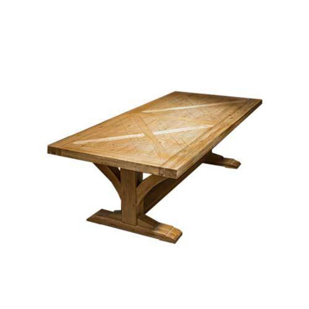 Oak Double Extension Table Parquet Top image 6