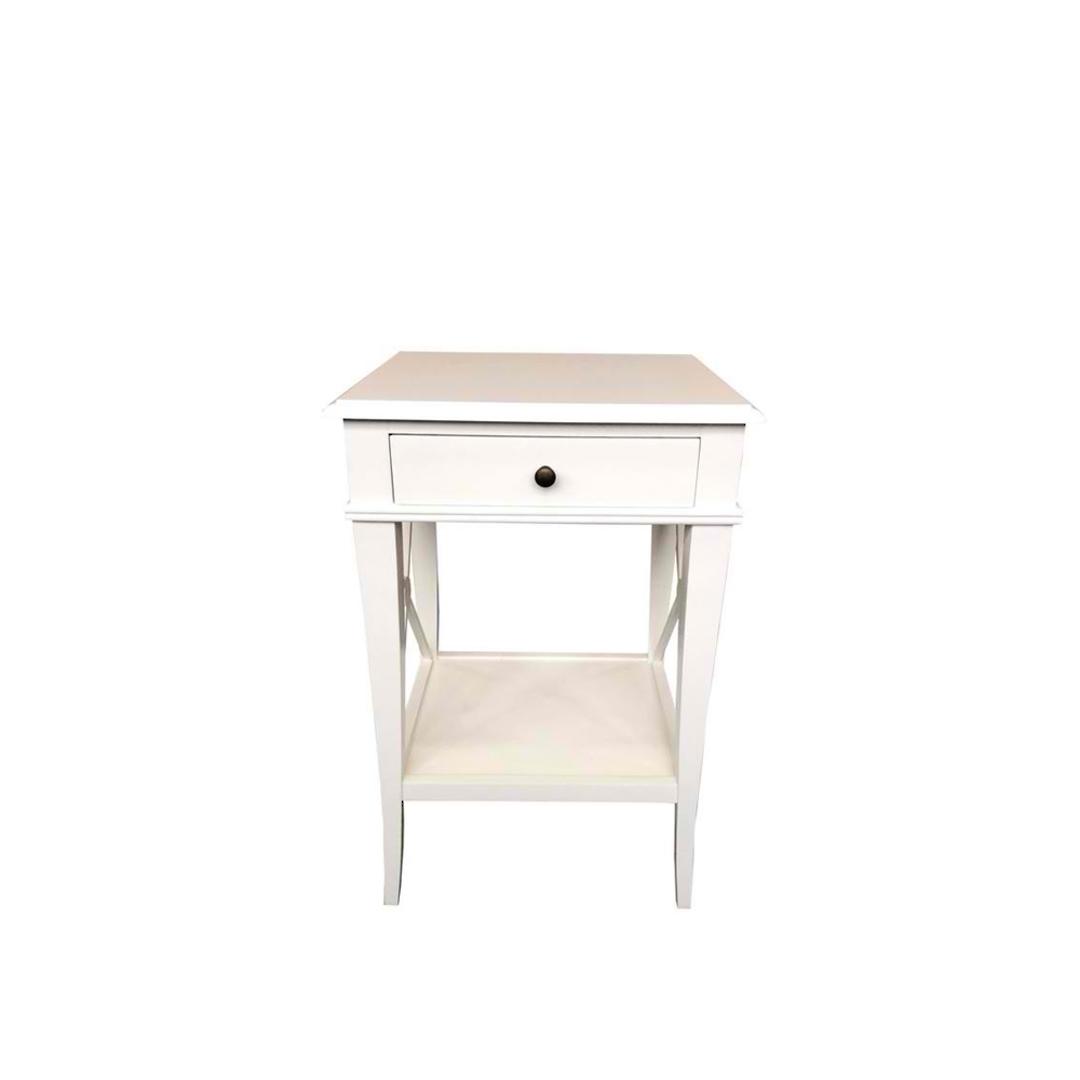 Villa Bedside Table - White Poplar image 1