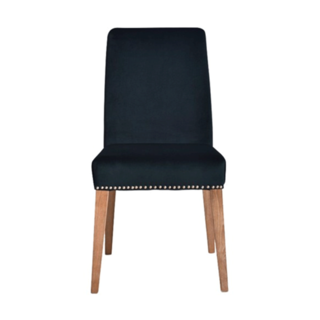 Pascal Dining Chair Navy Blue Velvet image 1