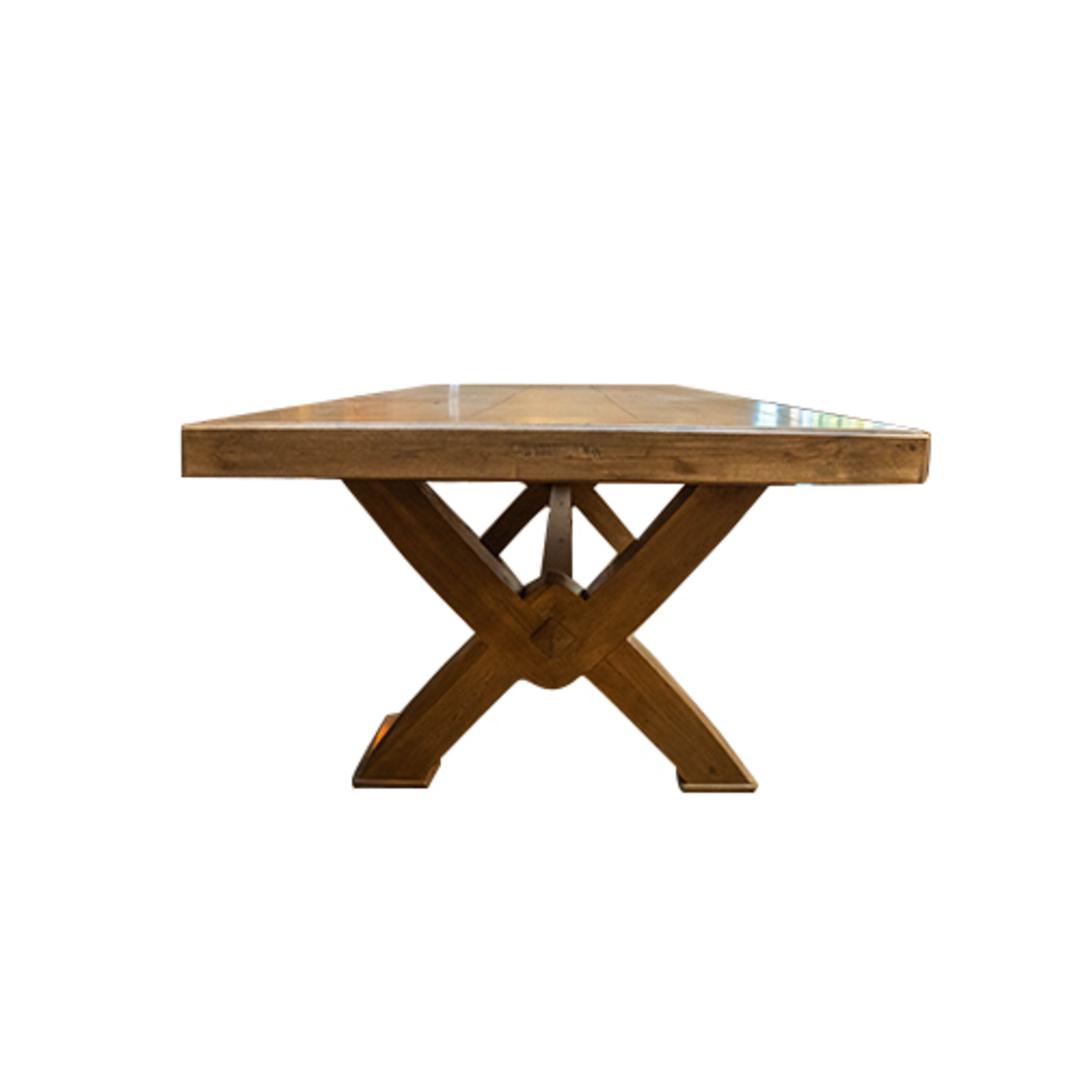 Antique Light Oak Chateau Table 2.4M image 1