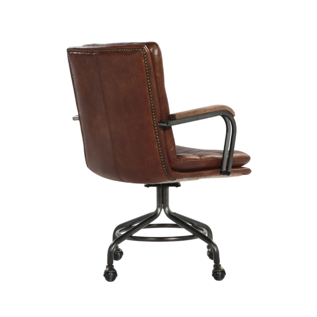 Newcastle Vintage Leather Office Chair image 4