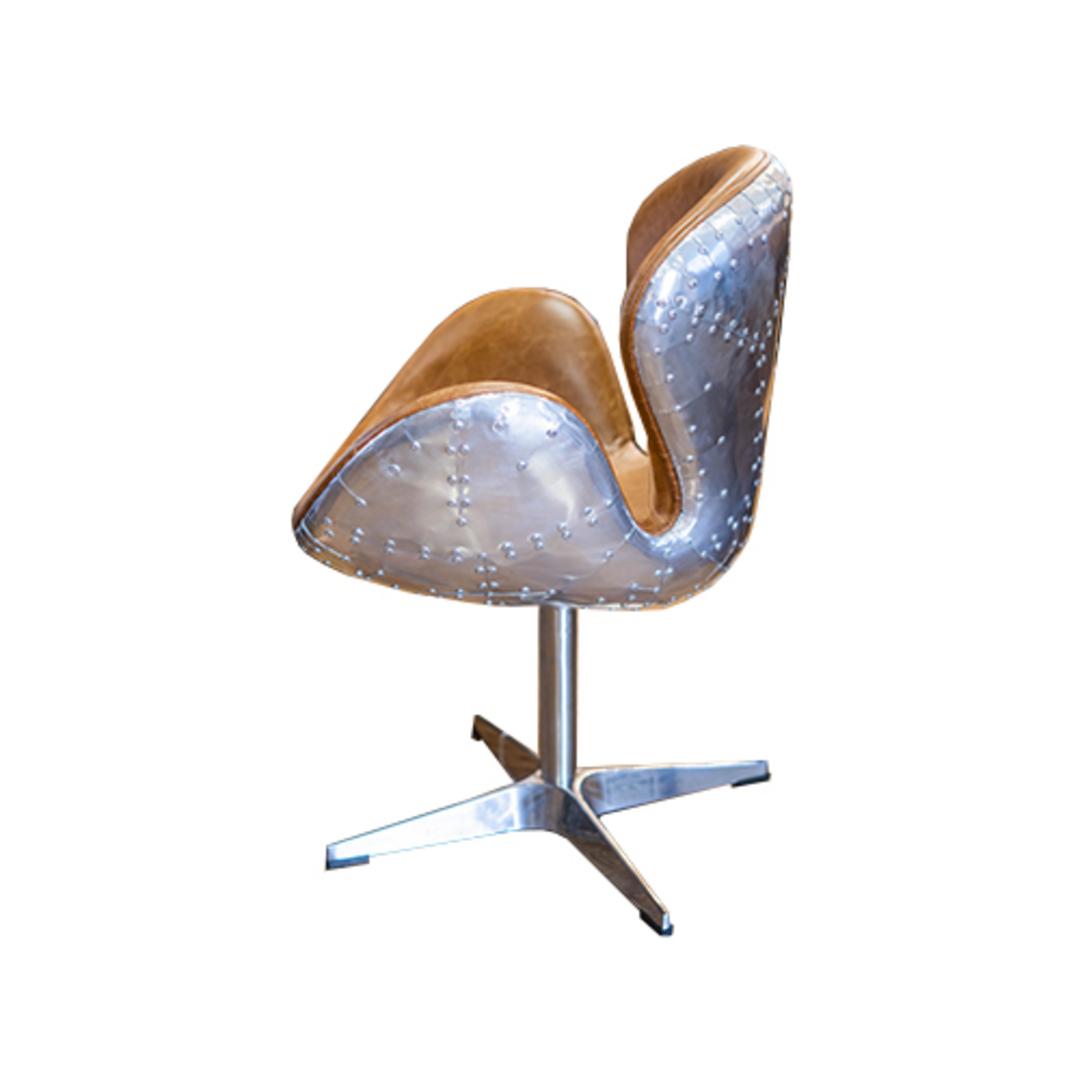 Aviator Swivel Chair Vintage Tan image 2