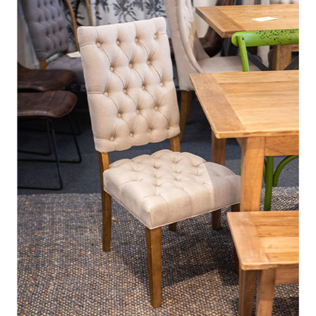 Casa Dining Chair Linen Cream image 1