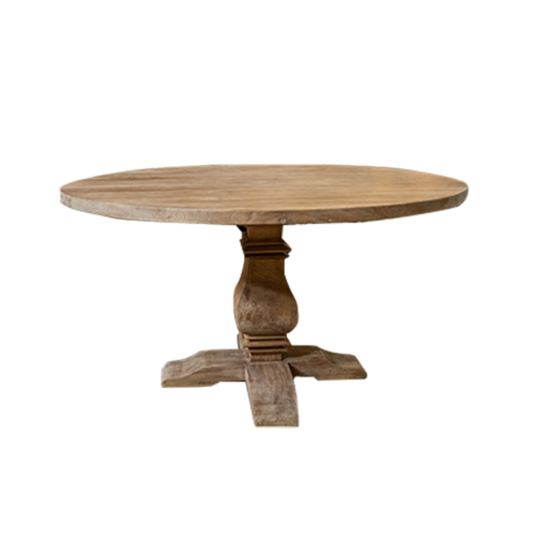 Recycled Elm Round Dining Table 1.5M image 1