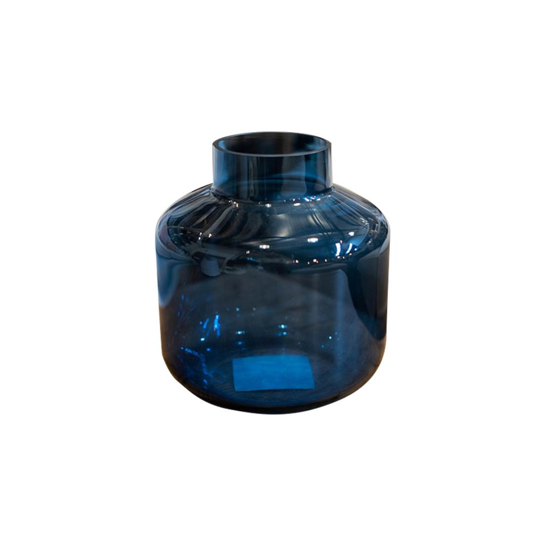 Ankara Colored Glass Vase - Navy image 0