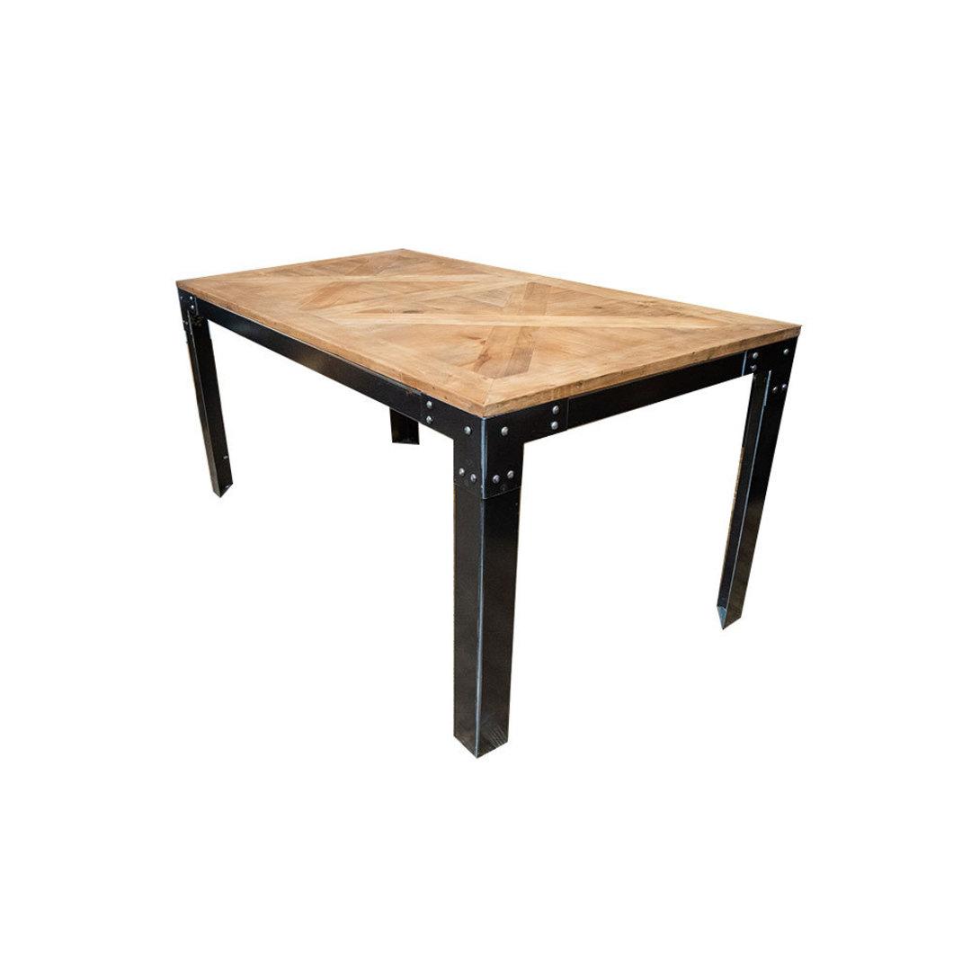 Elm Dining Table Iron Legs 1.6M image 1