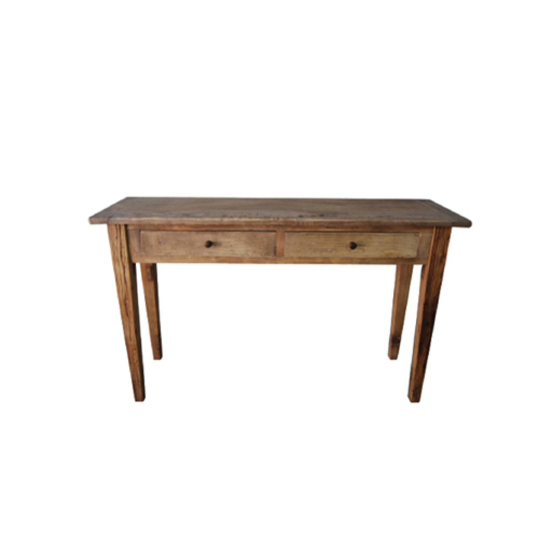 Recycled Elm French Console Table 2 Drawer image 0