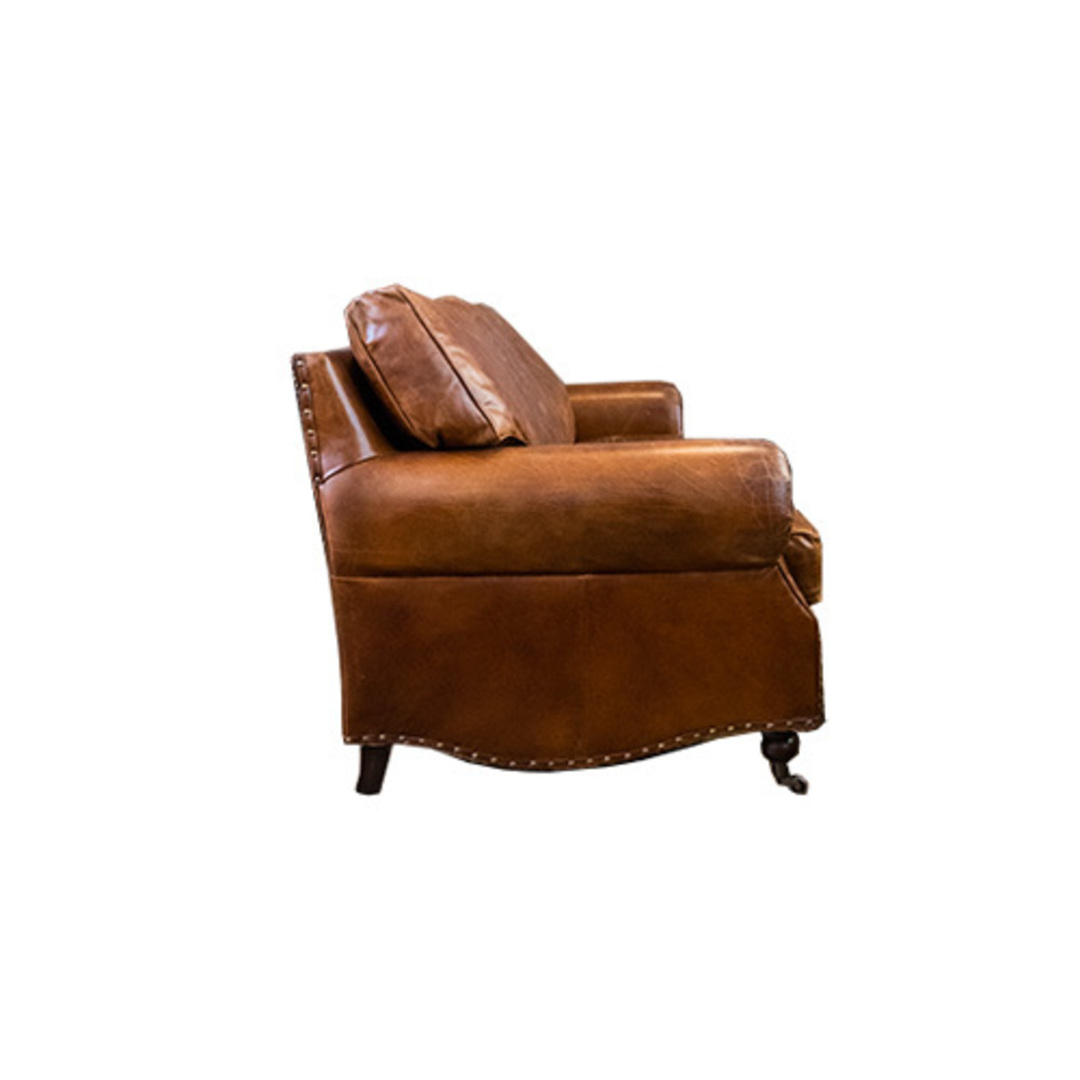 Churchill Aged Italian Leather 3 Seater image 1