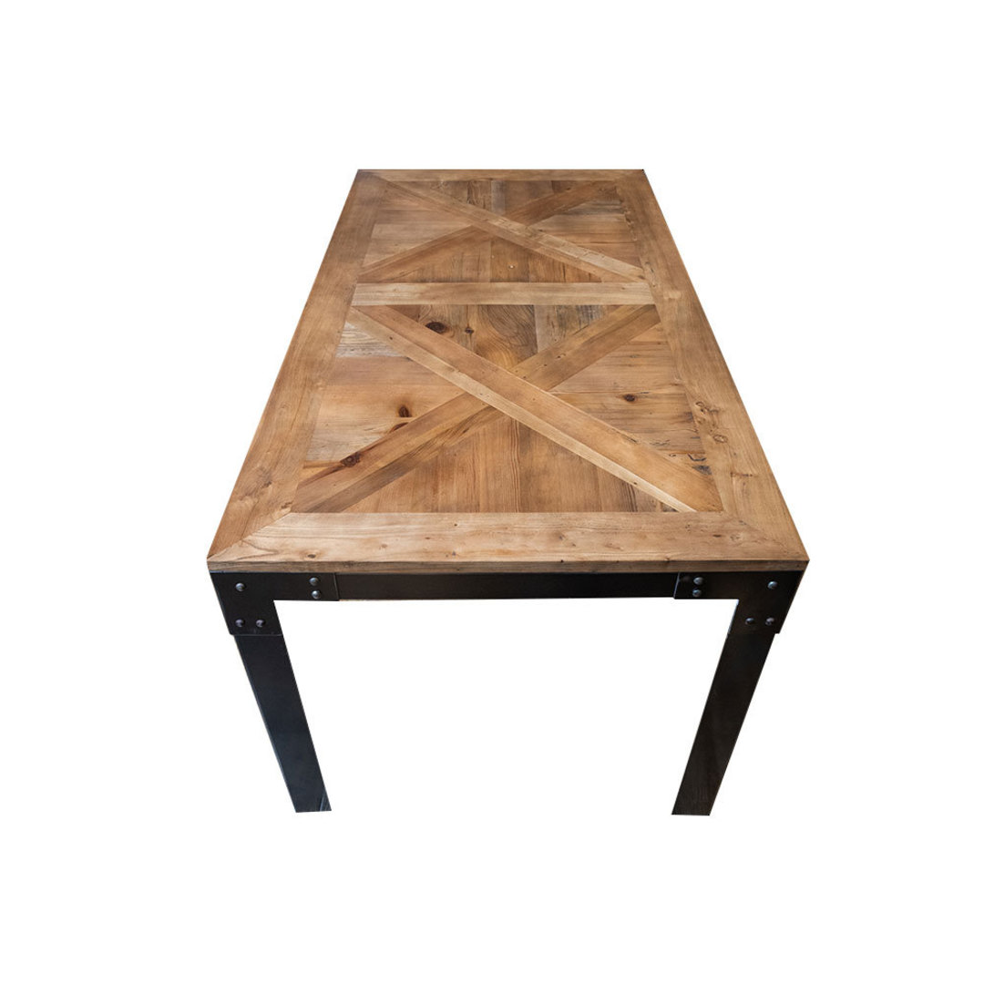 Elm Dining Table Iron Legs 1.6M image 2
