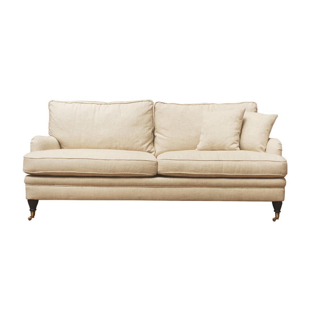 Victoria 3 Seater Sofa Belgium Linen Cream image 0