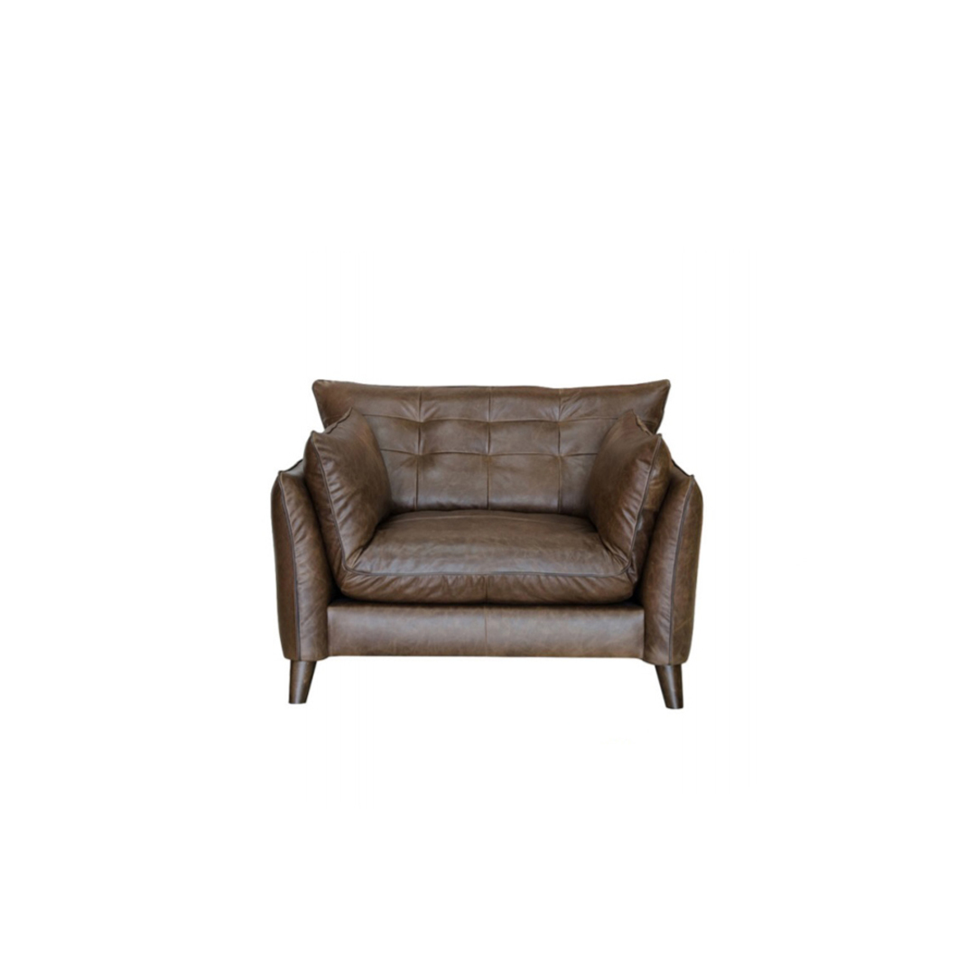 Tobias Chair Leather Brown image 0