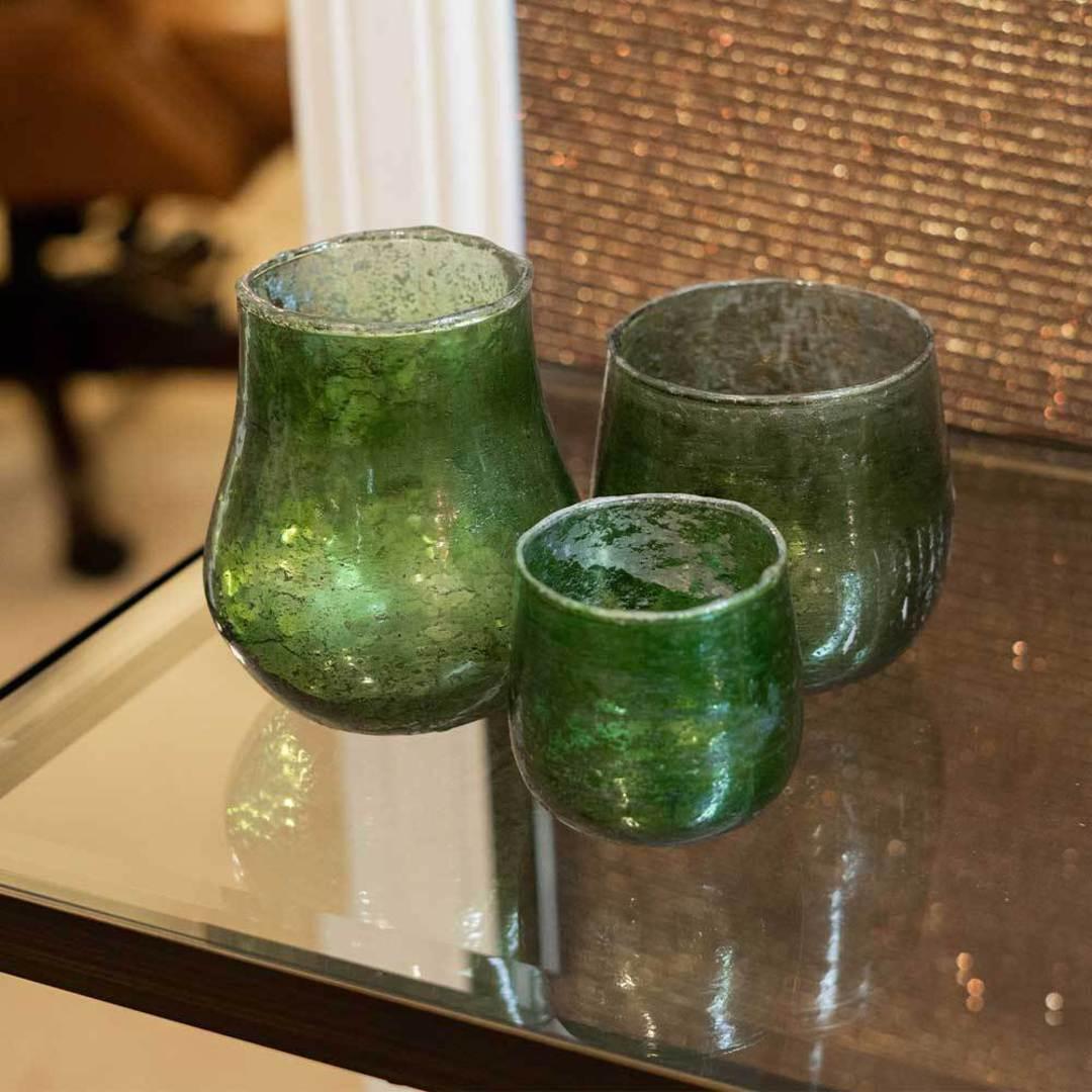 Green Jars - Set of 3 image 1