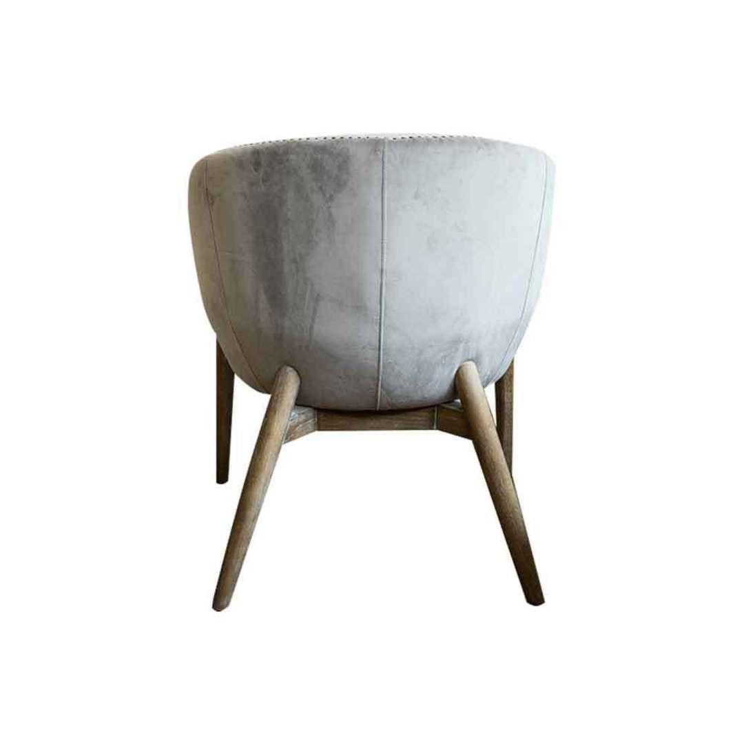 Cairo Velvet Carver Chair - Grey image 3