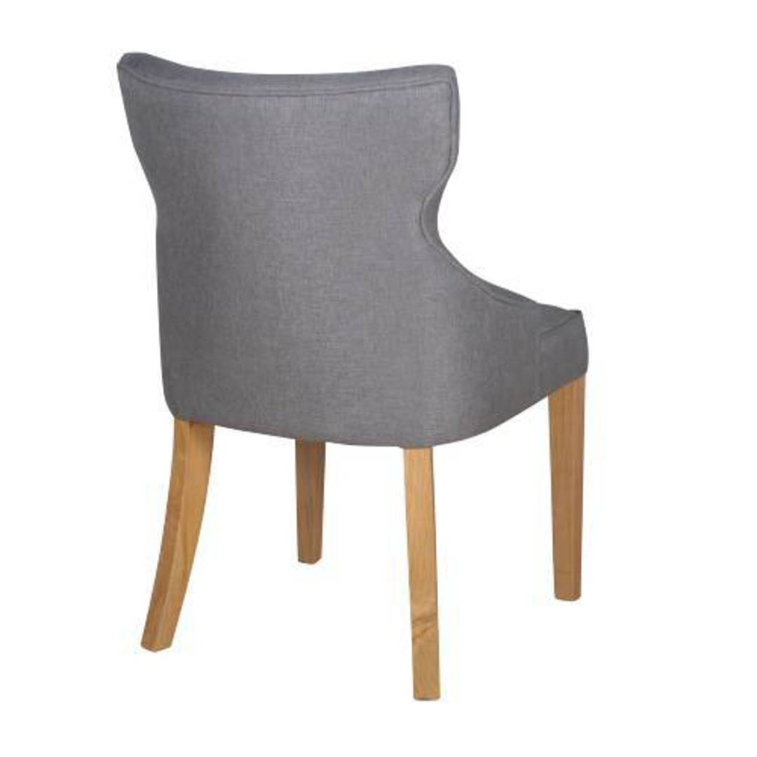 Fleur Dining Chair Grey Fabric image 1