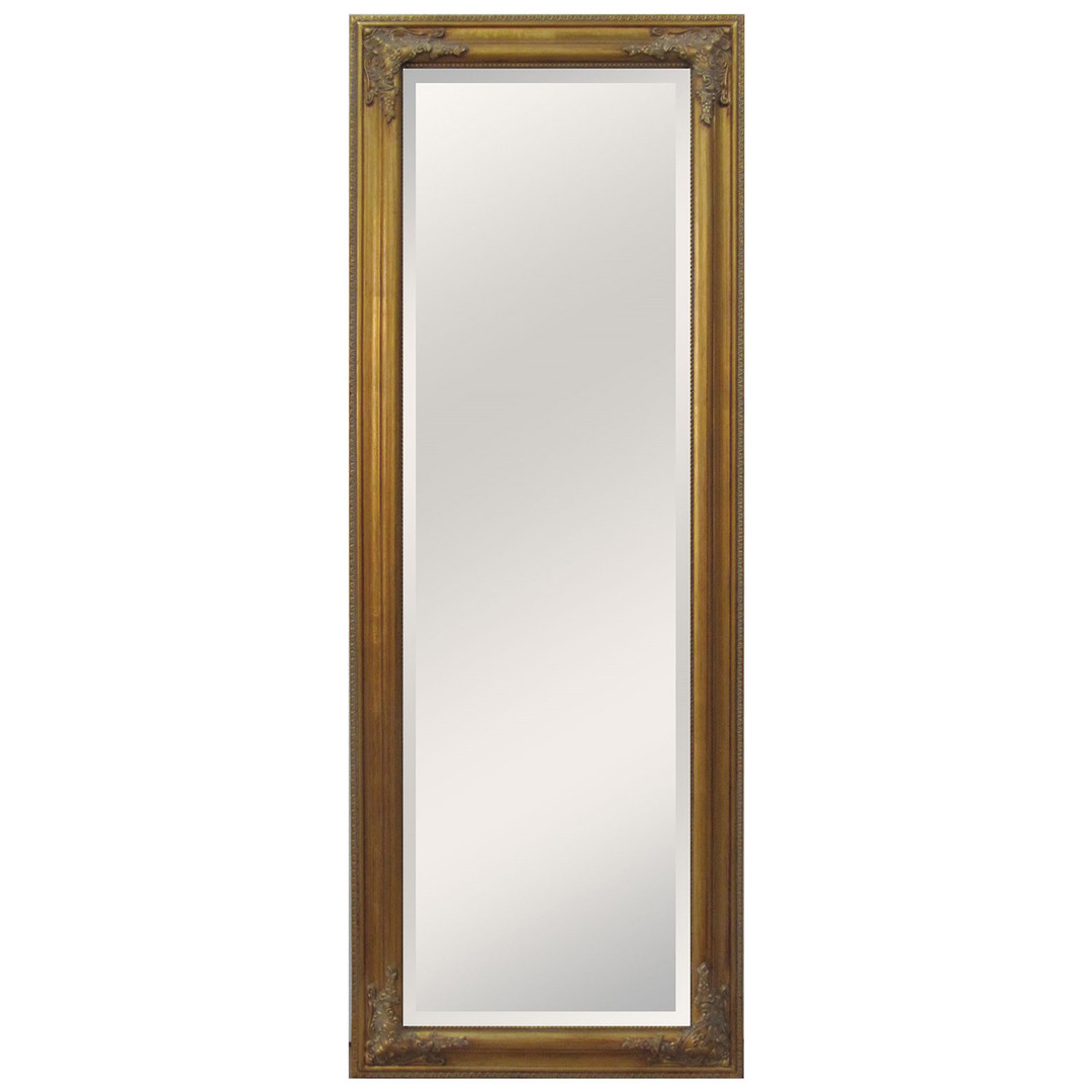 Antique Effect Beveled Dress Mirror image 0