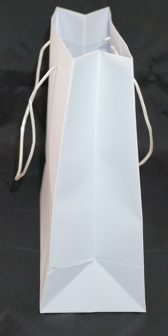 MEDIUM WHITE CARRY BAG WITH WHITE STRING HANDLES image 1
