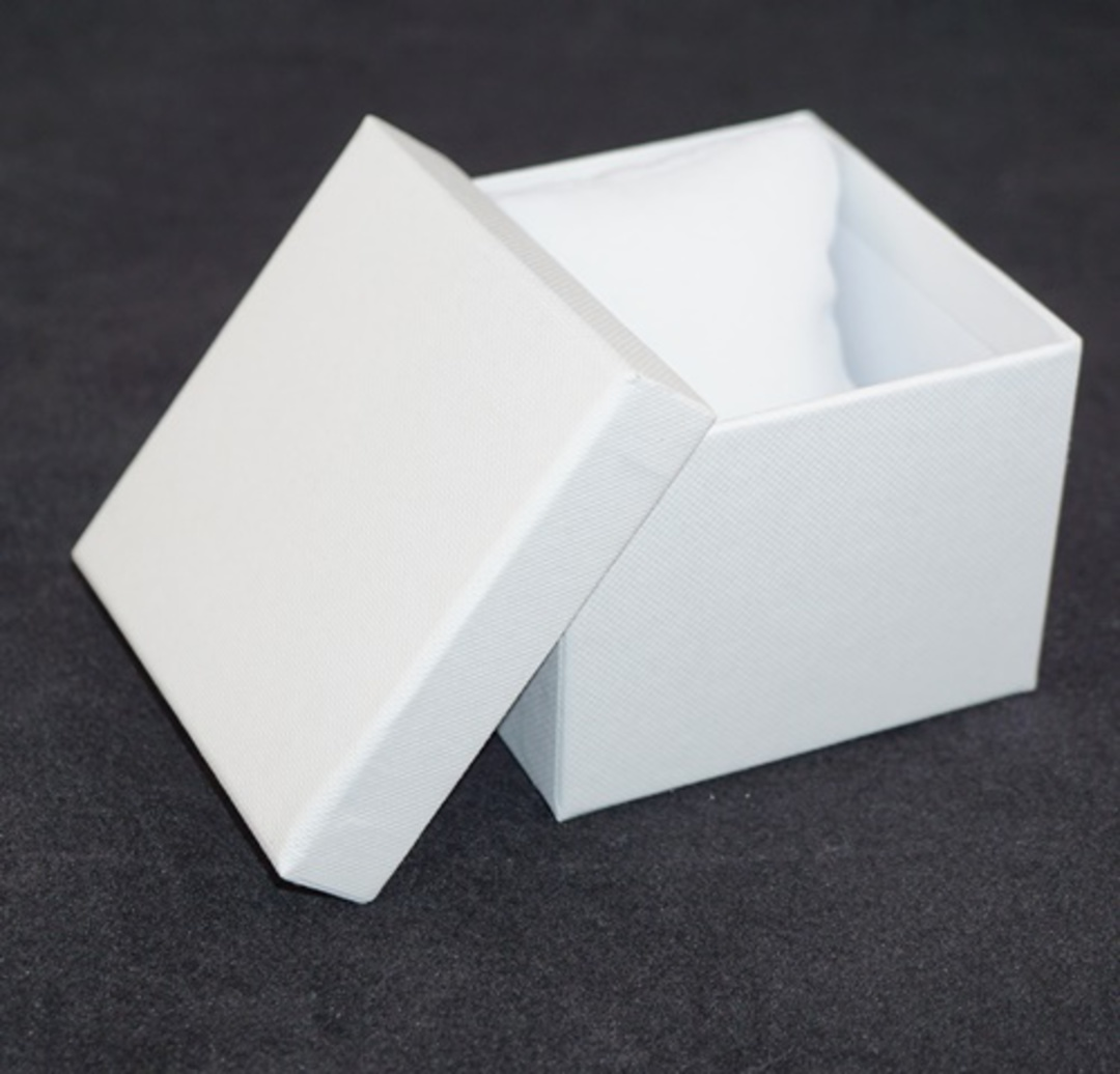 CB8 - WATCH/BANGLE BOX CARDBOARD WHITE WHITE CUSHION image 1