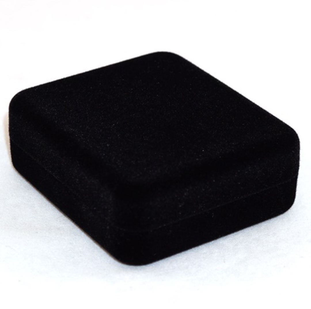 SSE - SMALL PENDANT/EARRING BOX BLACK FLOCK WHITE PAD image 1