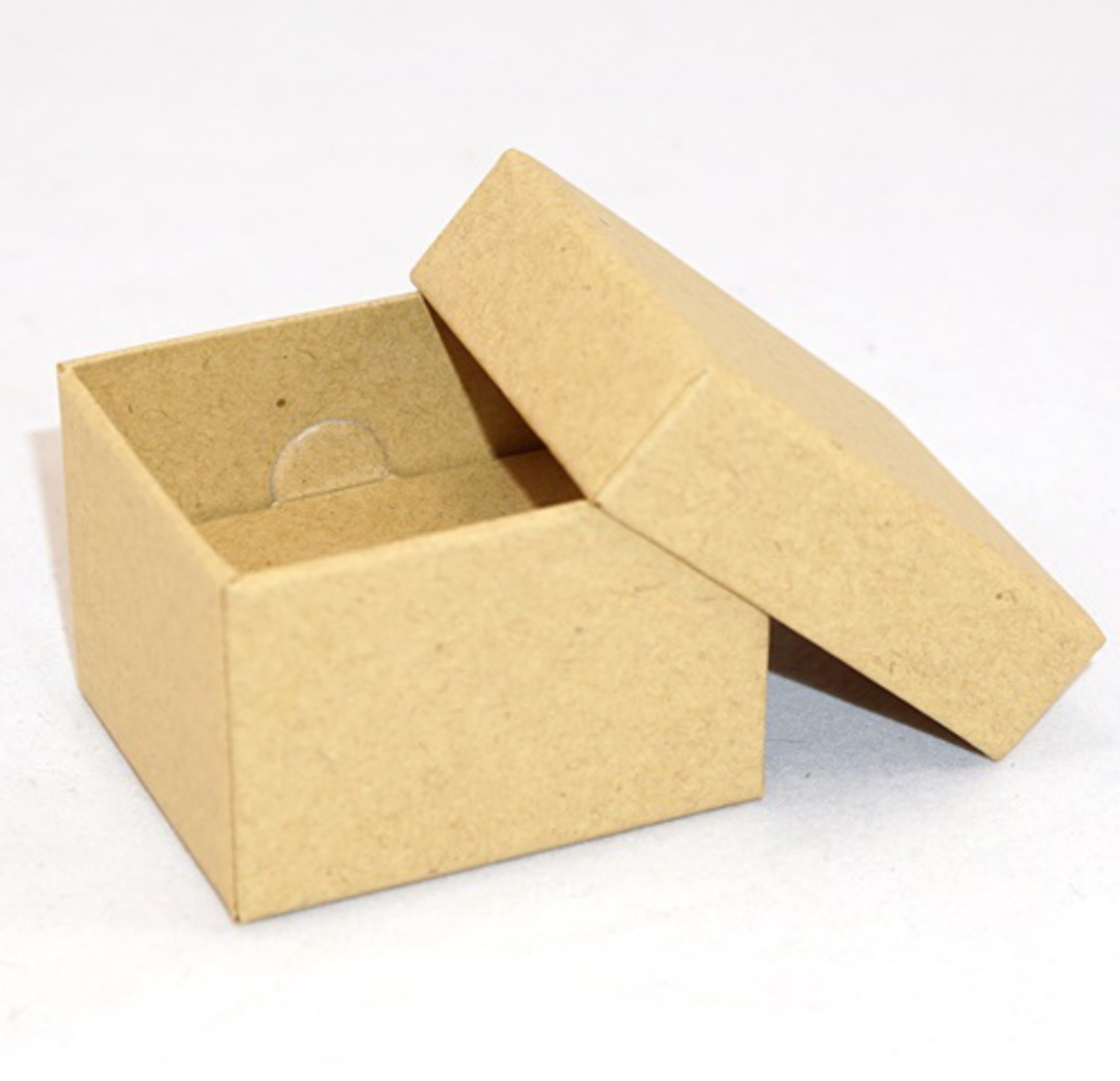 CBR - RING BOX CARDBOARD BROWN RECYCLABLE BROWN INSERT (60 PCS) image 1