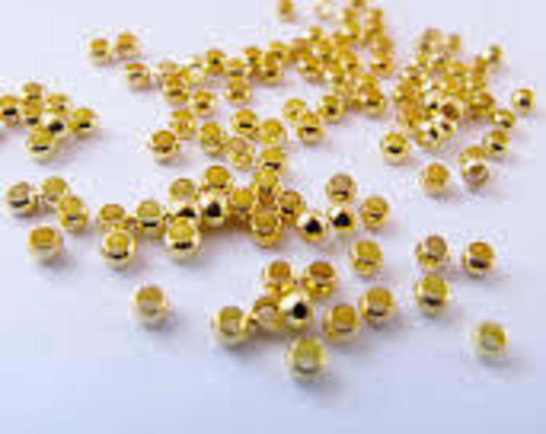 CRIMPS GOLD PLATED 2X1.3MM (2 GRAMS) image 0