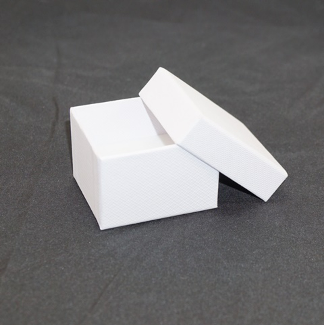 CBR - RING BOX CARDBOARD WHITE WHITE PAD (60 PCS) image 1