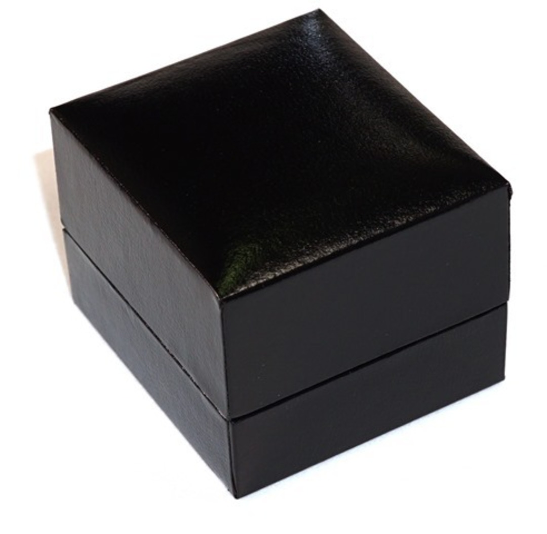 SDRFL - EARRING BOX LEATHERETTE BLACK NO LINE BLACK VINYL FLAP BULK DEAL (36 PCS) image 1