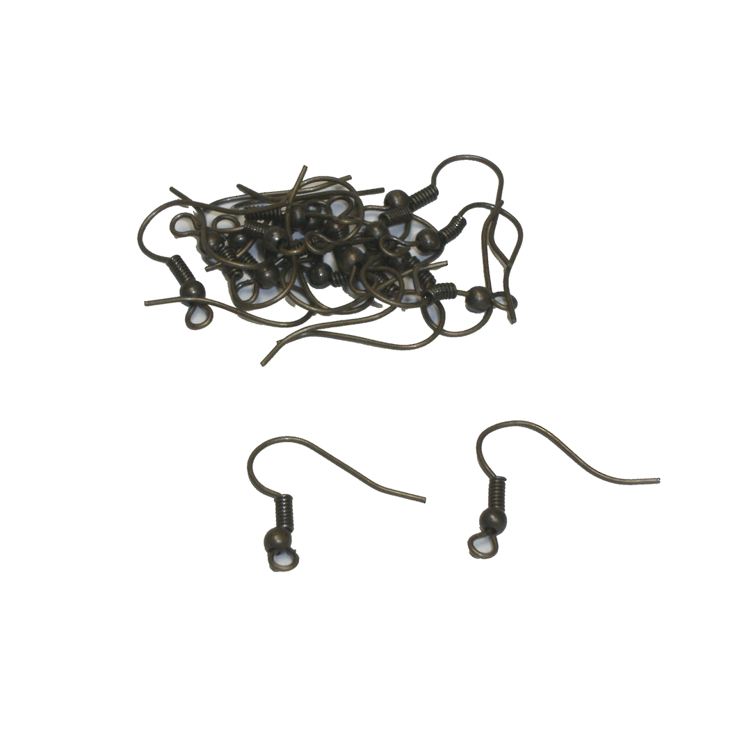 ZULU EAR WIRES ANTIQUE BRASS (20 PAIRS) image 0