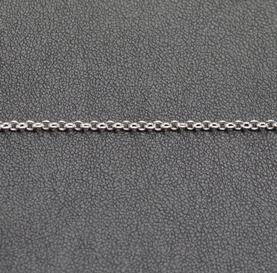 DAWN CHAIN EXTRA FINE CABLE SILVER PLATED 2.3X2.7MM (1 MTR) image 1