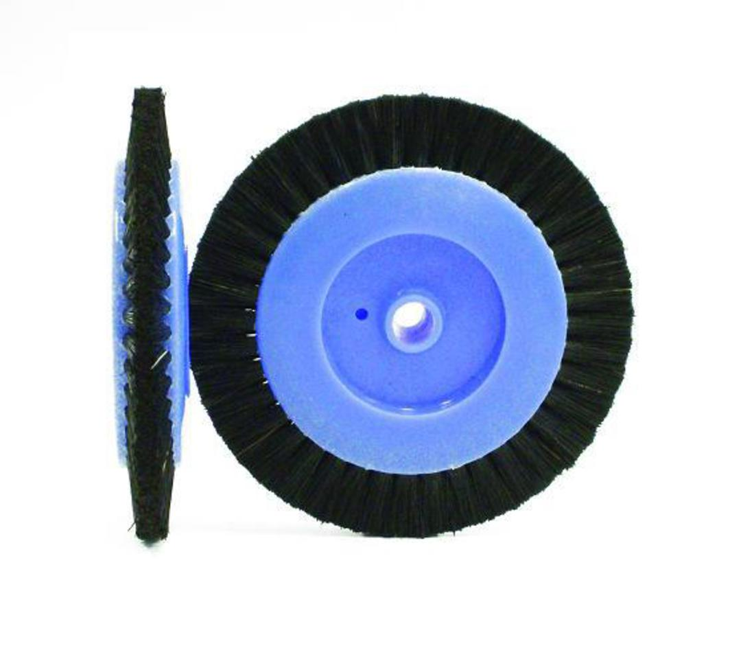CIRCULAR BLACK BRISTLE LATHE BRUSH 70mm image 0
