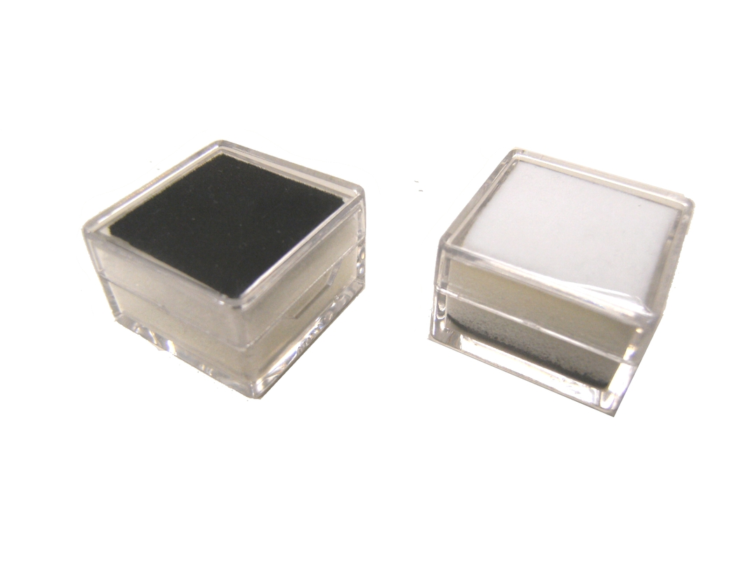 SQUARE GEM JAR CLEAR REVERSIBLE BL/WH INSERT (1 DOZ) image 1