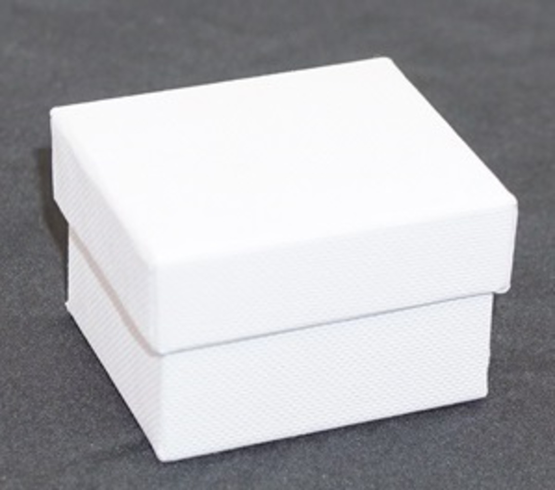 CBR - RING BOX CARDBOARD WHITE WHITE PAD (60 PCS) image 0
