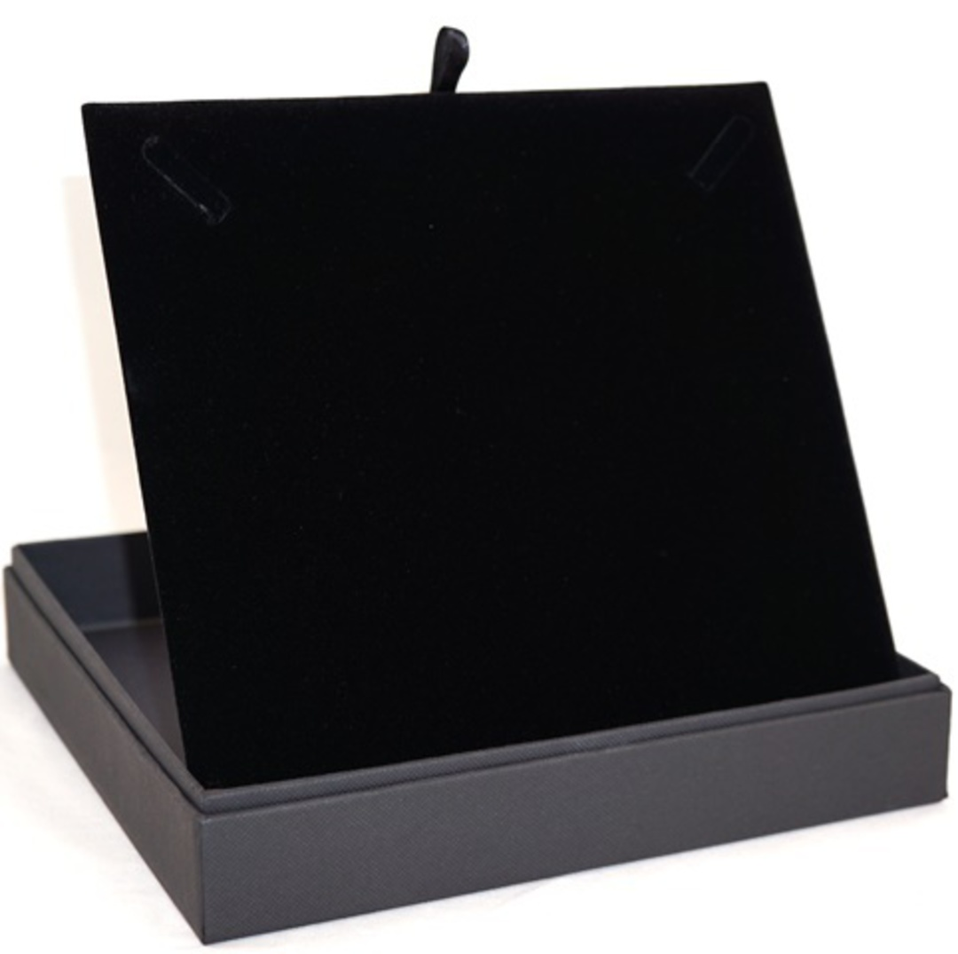 CB20 - NECKLACE BOX CARDBOARD BLACK BLACK PAD image 2