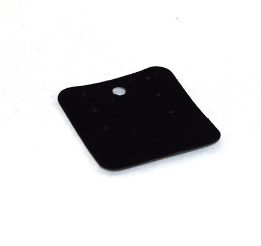 EARRING/PENDANT CARD BLACK FLOCK SMALL (50 PIECES) image 0