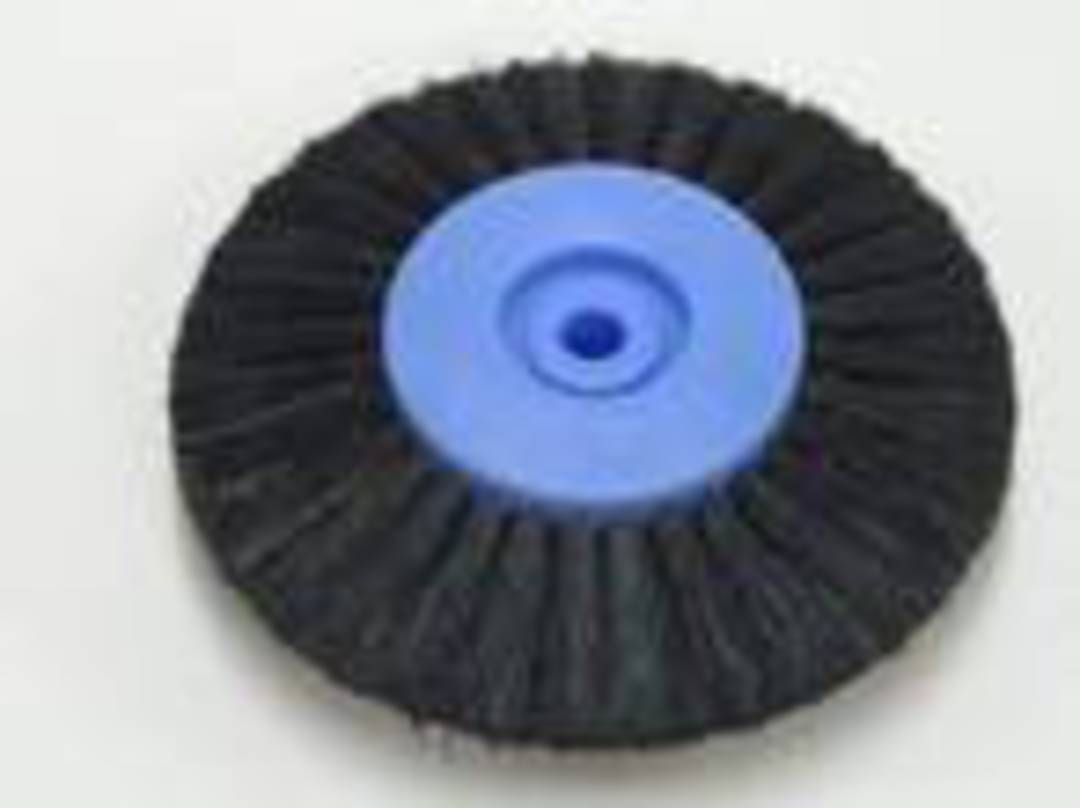 CIRCULAR BLACK BRISTLE LATHE BRUSH 80mm image 0