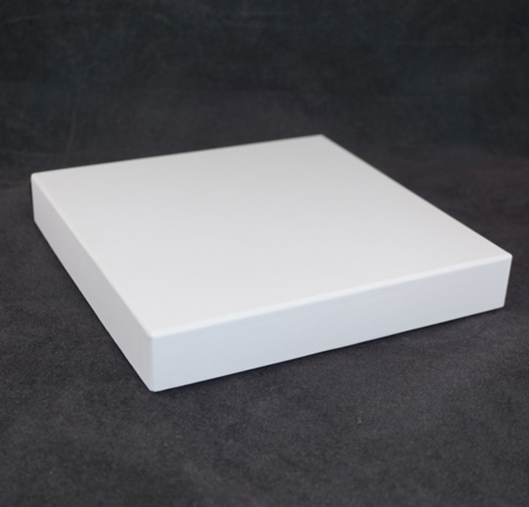 CB20 - NECKLACE BOX CARDBOARD WHITE WHITE PAD image 0
