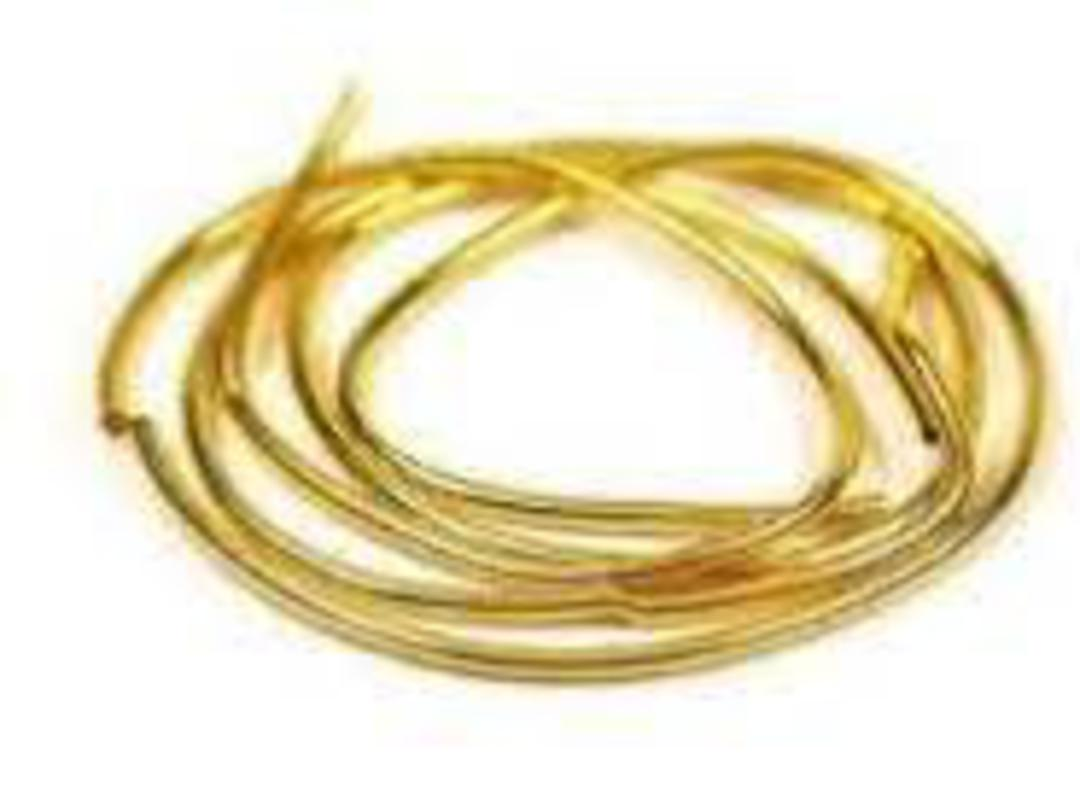 GIMP/FRENCH WIRE 0.8MM GOLD PLATED (1MTR) image 0