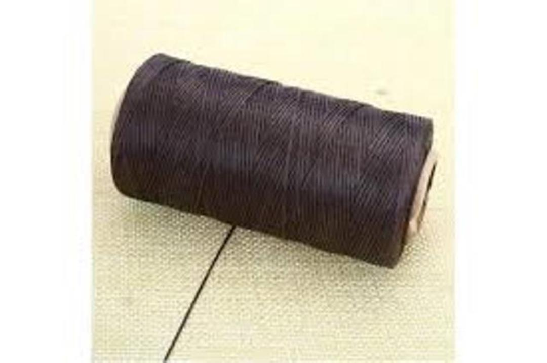 DARK BROWN WAXED JEWELLERY CORD 1MM / FULL ROLL (500 MTRS) image 0