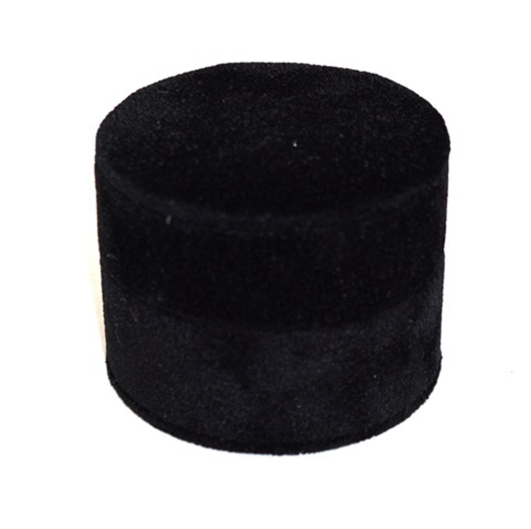 ROUND RING BOX BLACK SUEDE (SECOND QUALITY) image 0