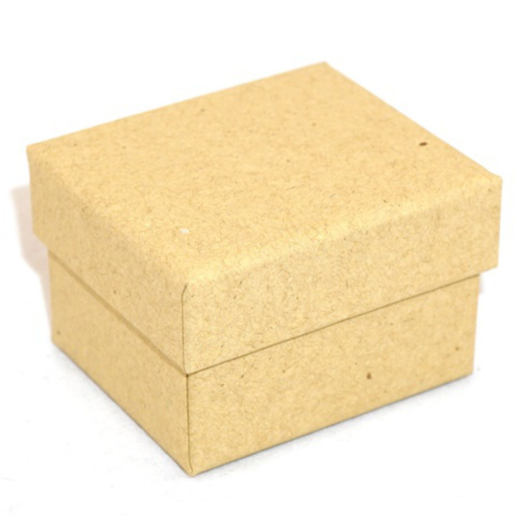 CBR - RING BOX CARDBOARD BROWN RECYCLABLE BROWN INSERT (60 PCS) image 0
