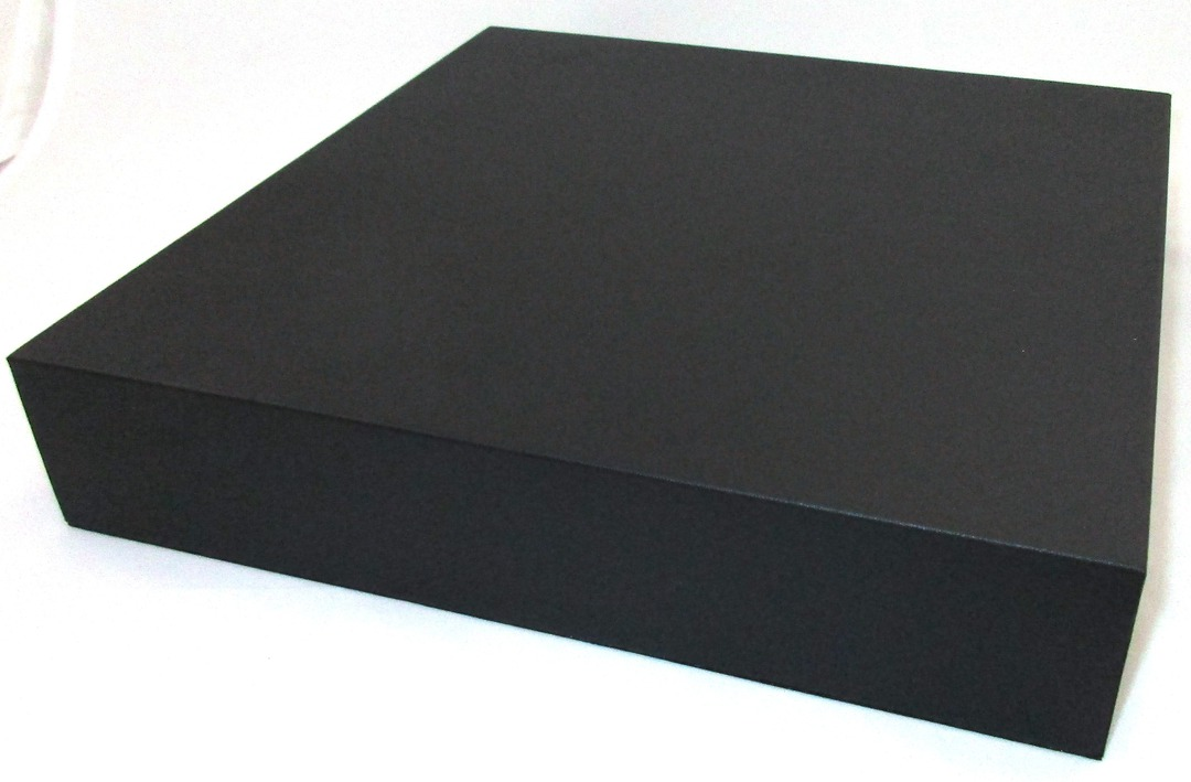 DISPLAY PLATFORM LARGE SQUARE BLACK VINYL image 0