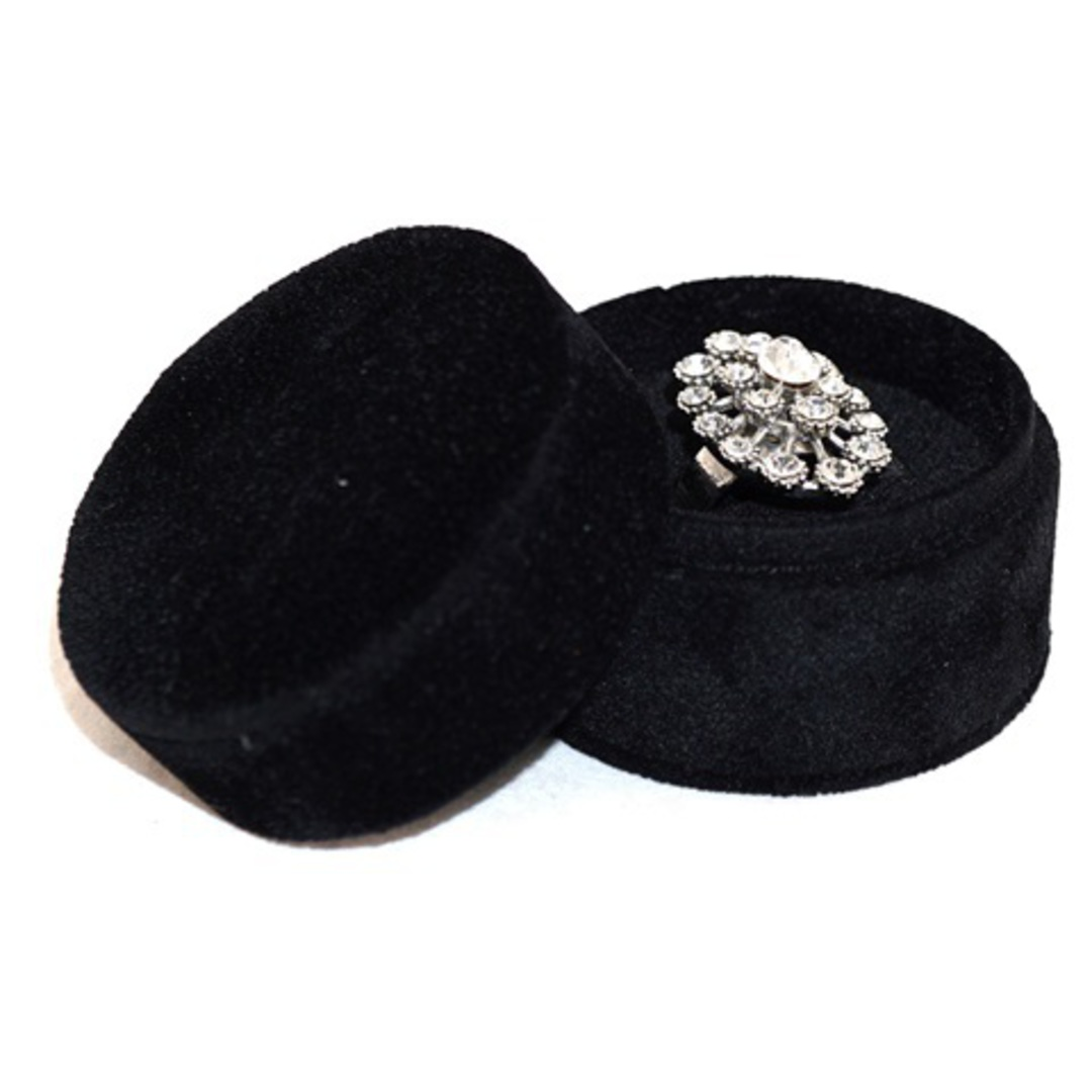 ROUND RING BOX BLACK SUEDE (SECOND QUALITY) image 1