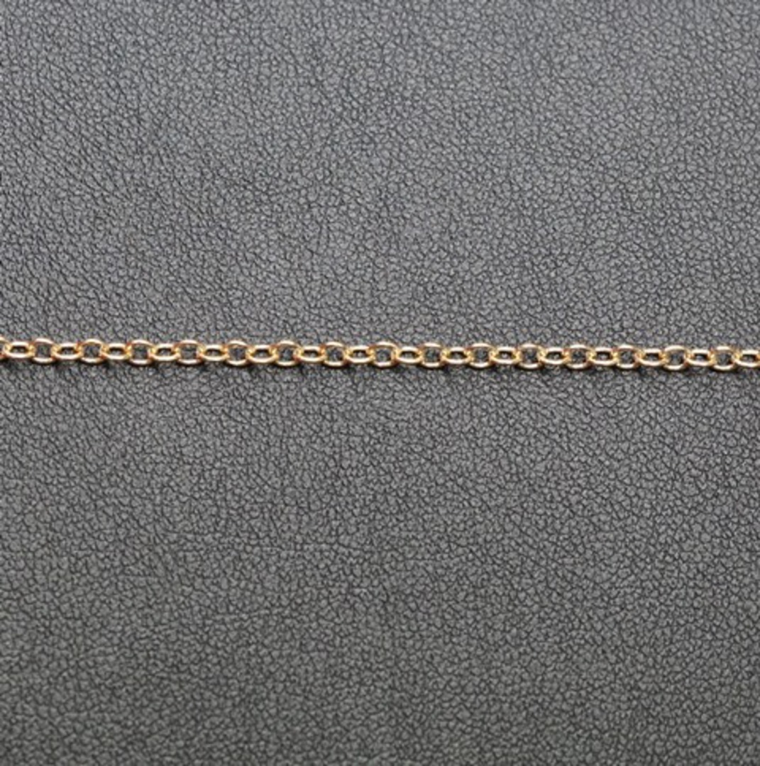 PRISCILLA CHAIN FINE CABLE GOLD PLATED 2.7X3.1MM  (1 MTR) image 1