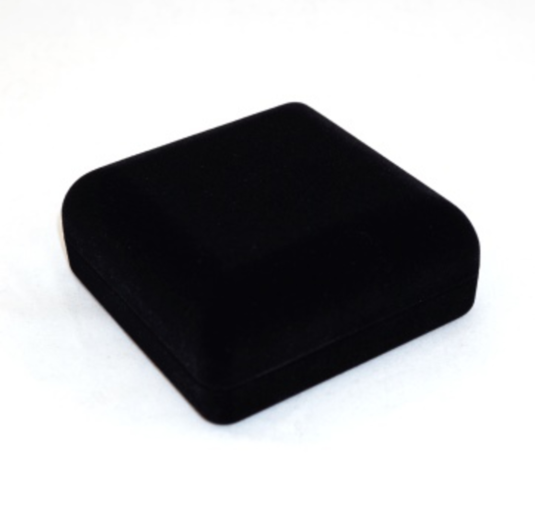 SSSB - LARGE PENDANT BOX BLACK FLOCK BLACK PAD BULK DEAL (24 PCS) image 1