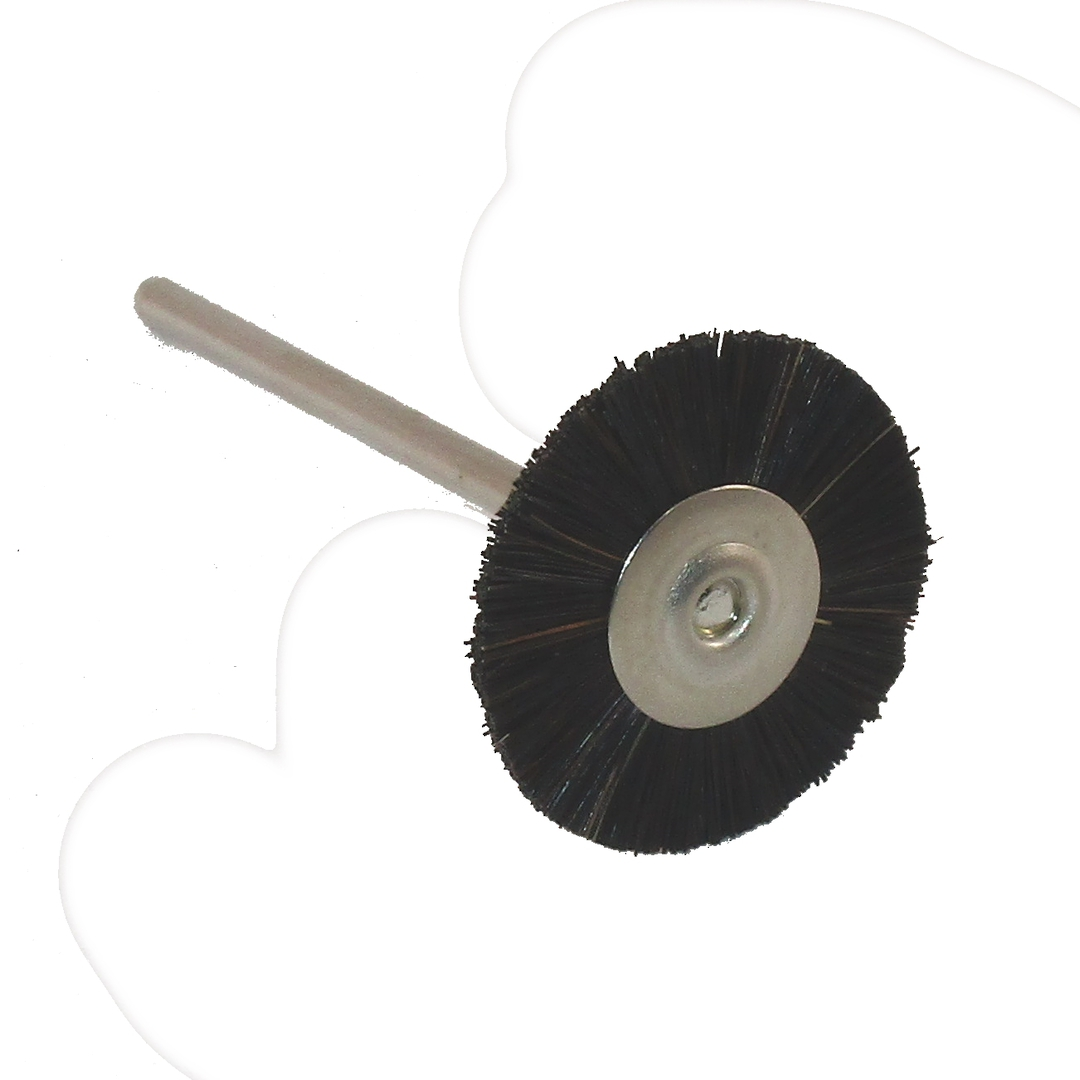 BLACK BRISTLE BRUSH 21mm - HARD image 0